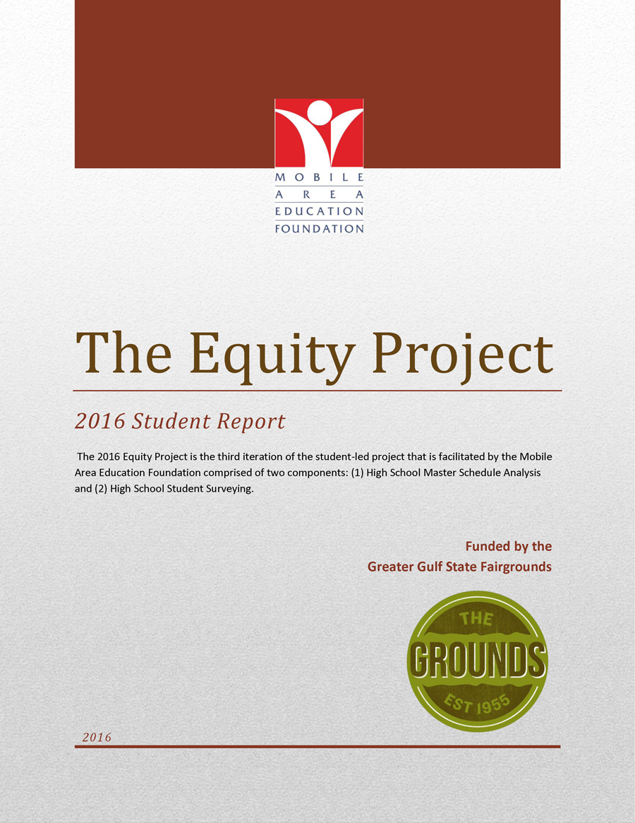 superintendent s student advisory council mobile area education cover page web equity report 2016